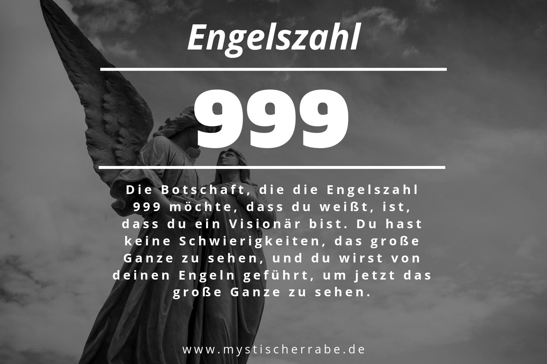 Engelszahl 999 und ihre Bedeutung – Warum siehst du 999?