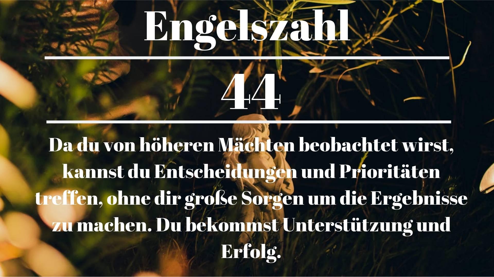 Engelszahl 44 und ihre Bedeutung – Warum siehst du 44?