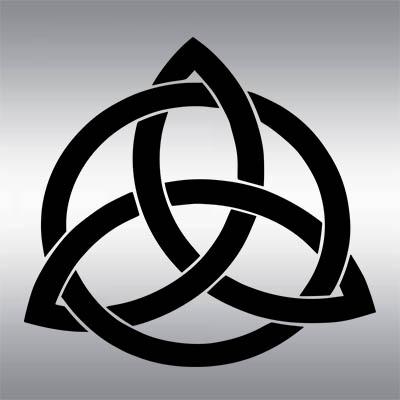 Der Triqueta wird manchmal von Heiden und keltischen Christen als Schutzsymbol verwendet.