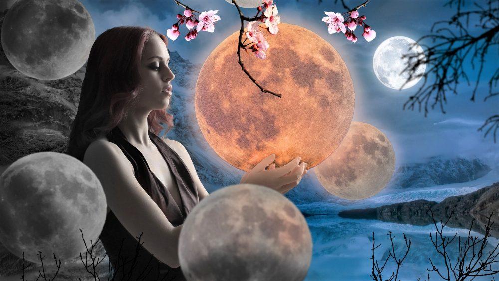 Der Mond in den Tierkreiszeichen