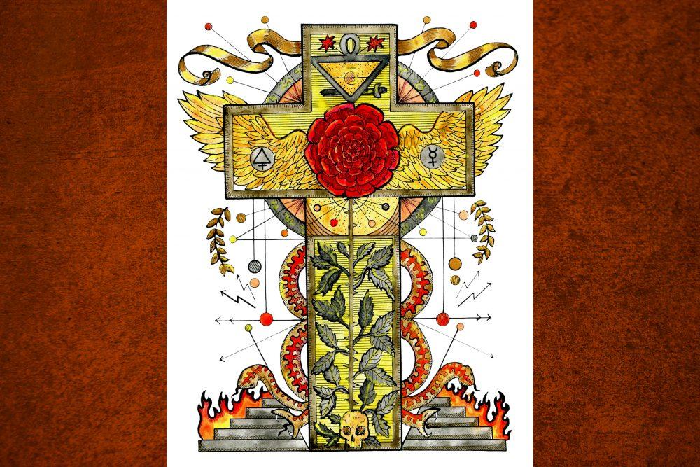 Kreuz mit Rose: Das Symbol der verborgenen Weisheit