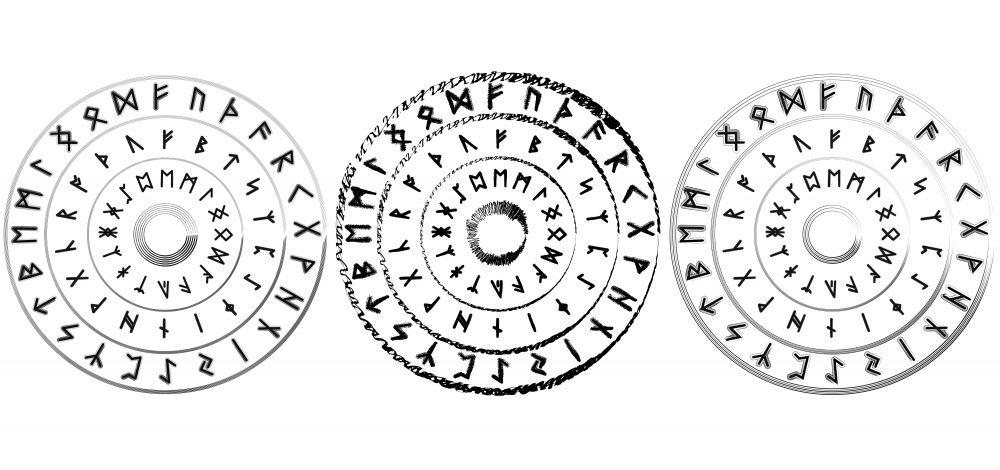 Runenkreis: Das magische Rad des älteren Futharks