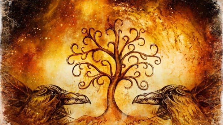 Hugin und Munin: Die treuen Raben des nordischen Gottes Odin