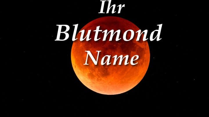Ihr Blutmond-Name basierend auf Ihrem Tierkreiszeichen