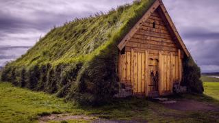 Das Wikinger haus - Langhaus von außen